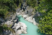The turquoise waters of the Lech River