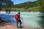 Hiking along the turquoise Lech River