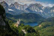 The fairytale-like royal castles of Hohenschwangau and Neuschwandstein
