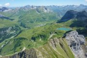 Overview of the Arlberg and lake Formarinsee