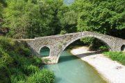 Typical stone bridge in the Vikos Gorge