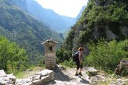 View into the Vikos Gorge from Vikos