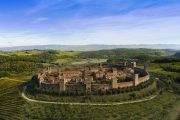 The perfectly-preserved medieval walled village of Monteriggioni