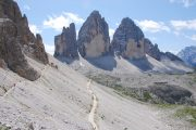 Hiking trail at the Tre Cime (Drei Zinnen)