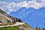Hikers at the Tre Cime di Lavaredo