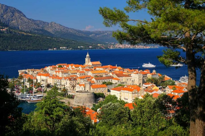 Croatian coast cycling korcula dubrovnik