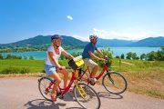 Cycling at Lake Tegernsee