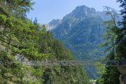 Hiking through the Leutasch Gorge