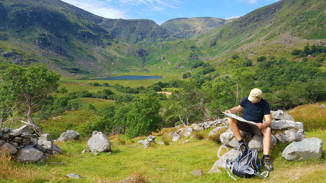 Map reading on the Kerry Way