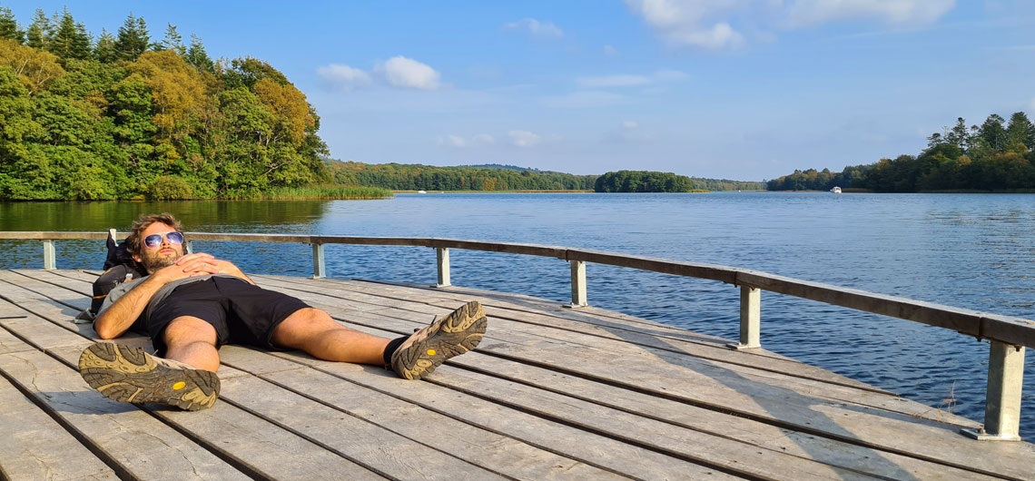 Relaxing on the Himmelbjerg Route in Denmark's Lake District