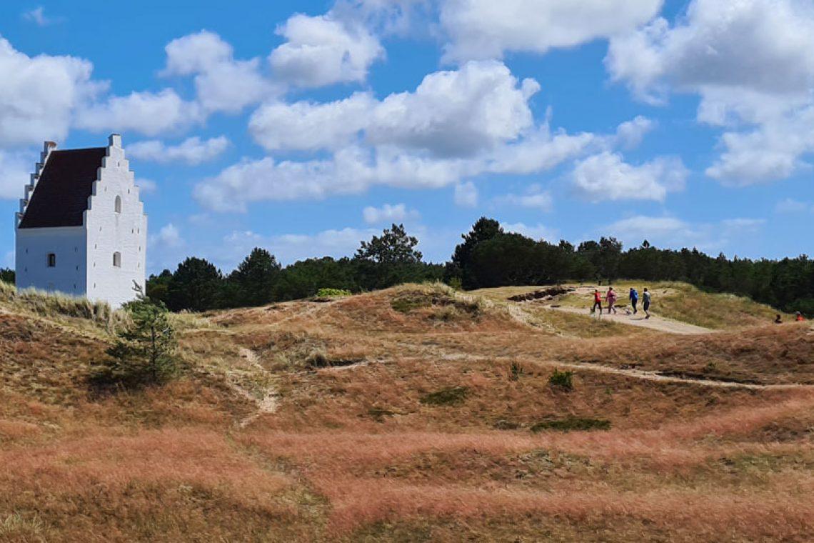 The sand-covered church near Skagen on Denmark's North Sea Trail