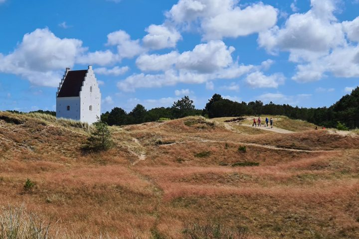 The sand-covered church along the North Sea Trail from Hirtshals to Skagen