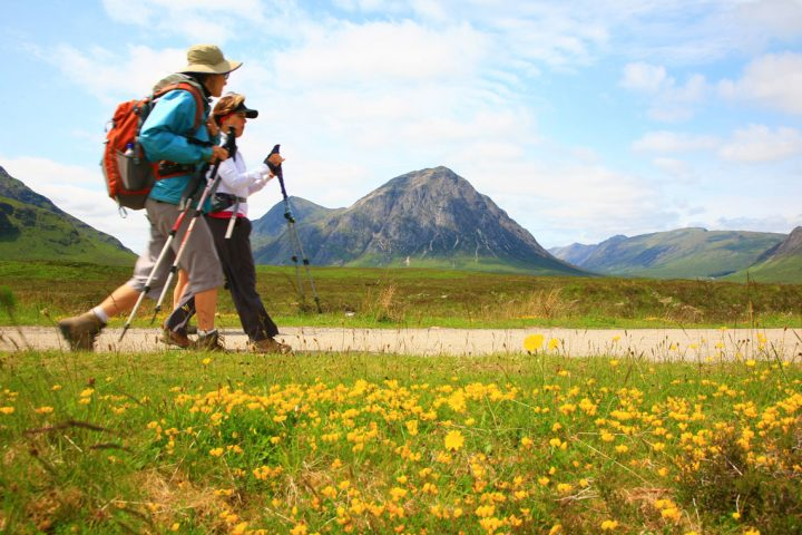 Walking past Buachaille Etive Mor on the West Highland Way