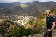 Udsigt fra vandrestien over Vallehermoso