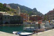 Udsigt fra havnen i Vernazza