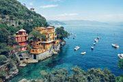 Kystlinjen nær Portofino