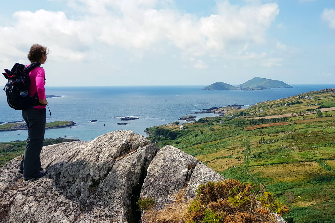 Udsigt til Scarriff Island fra The Kerry Way