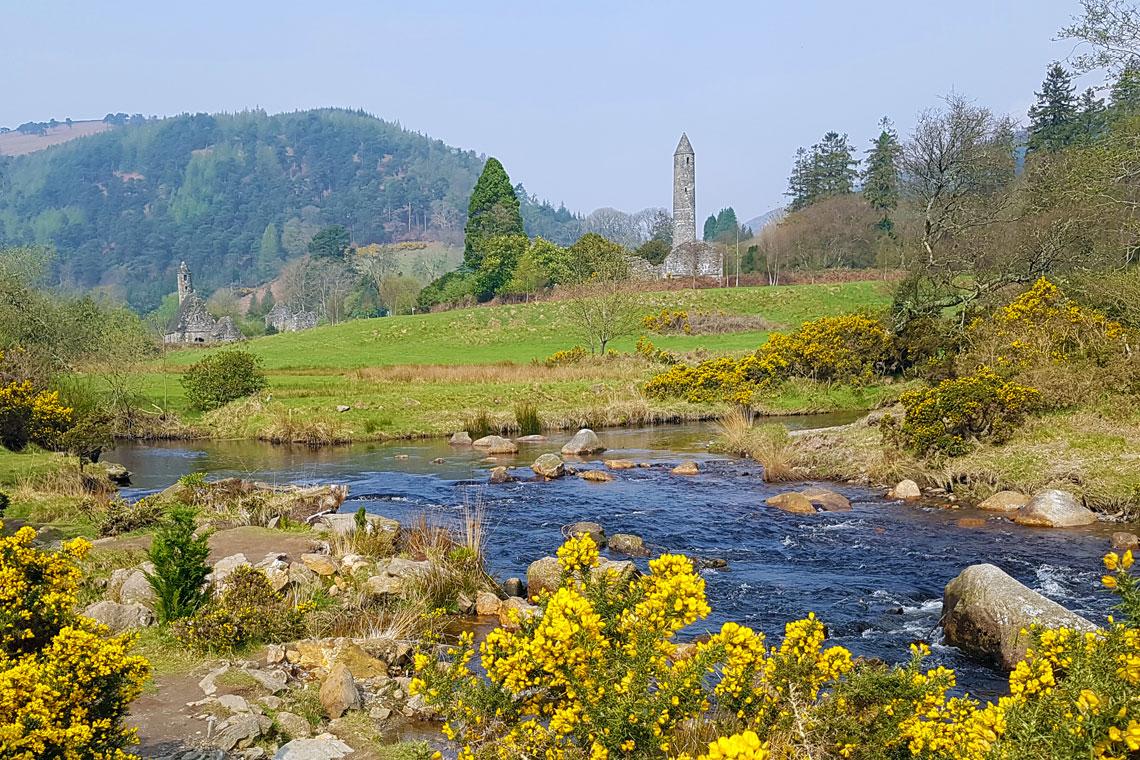 Klosterlandsbyen Glendalough fra det 6. århundrede