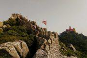vandring på slottets vægge