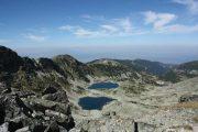 Udsigt fra Musala, som er det højeste bjerg på Balkanhalvøen