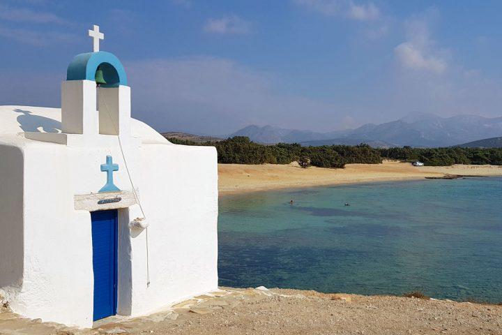En af Naxos' mange smukke strande