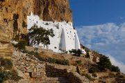 Det berømte kloster Hozoviotissa på Amorgos
