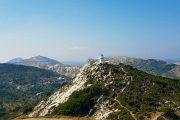 Bjergrig udsigt uden for Filoti, der ligger lige midt på Naxos