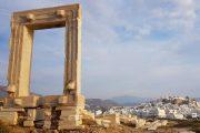 Naxos' vartegn Portara er fra et ufærdigt Apollon-tempel fra 530 f.Kr.