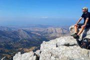 Storslået udsigt fra toppen af Zas på Naxos