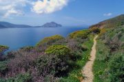 Cycladic island walking trail