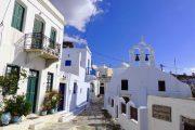 En af de hyggelige gader i Apiranthos på Naxos