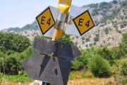 Crete hiking signposts