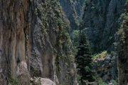 vandring gennem Samaria-kløften i Kreta