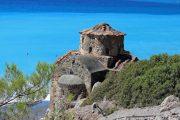 Agios Pavlos kirke på stranden i Agia Roumeli