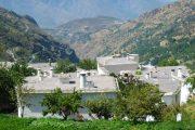 De karakteriske fladtagede huse, der vidner om områdets mauriske kulturarv