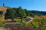 Stien, der fører til eller fra toppen af Himmelbjerget