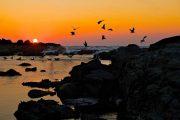 Solnedgang i Baiona