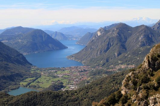 Lake Lugano from Monte Grona