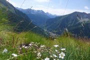 Et typisk alpinlandskab på Tour du Mont Blanc