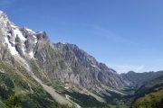 Udsigt over Vallée des Glaciers på Tour du Mont Blanc