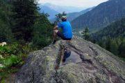 En pause på Tour du Mont Blanc med en dejlig udsigt