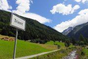 Ankomst til den hyggelige lille landsby Trient med Mont Blanc i baggrunden