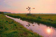 polder og vindmølle