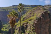 På vej ned i den dybe kløft Barranco de Azuaje