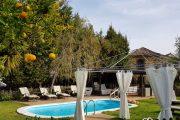 Det idylliske Hotel Rural Las Calas, som man bor på i La Lechuza