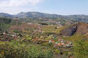 På vej mod La Lechuza med udsigt over landbrugsterrasser
