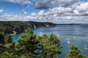 fantastisk havudsigt langs Bretagnes Smaragdkyst