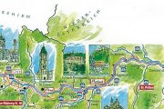 Kort over Donau Radweg ruten