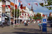 Strøget i Horsens er Danmarks bredeste gågade.
