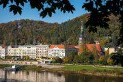 Byen Bad Schandau ved Elben